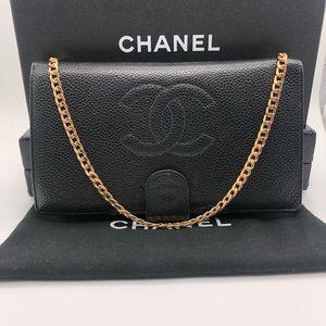 ‼️SALE Chanel WOC crossbody wallet boy flap bag